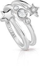GUESS Jewellery Ring STARLICIOUS -  Dames -  Zilverkleurig -