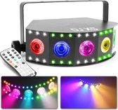 BeamZ DJ X5 LED lichteffect met wash, blacklight en stroboscoop effect in één behuizing