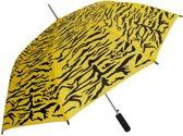 Geel/zwarte tijger print paraplu 80 cm