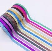 Washi Tape Set - Gekleurde Plakband / Masking Decoratie Papier Tape Plakband - Glitter -6 Stuks