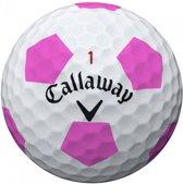 Callaway Chrome Soft Truvis ballen (dozijn) - wit roze