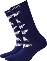 Burlington Moth Sokje Dames 20746 - 36-41 - Blauw
