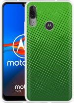 Motorola Moto E6 Plus Hoesje groene cirkels