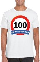 100 jaar and still looking good t-shirt wit - heren - verjaardag shirts 2XL