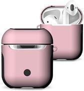 Hybride Silicone Case Cover Hoesje voor Apple Airpods - KELERINO. - Roze