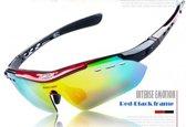 Fietsbril Polarized Inclusief 6 Lezen (Rood)