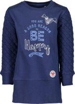 Blue Seven Meisjes Jurk Blauw met Print - Maat 92