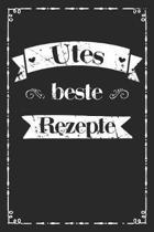 Utes beste Rezepte: A5 Rezeptbuch zum selberschreiben personalisiert Personalisierte Geschenke Vorname Ute - �bersichtliches blanko Kochbu