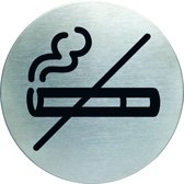 "Pictogram ""Verboden te Roken"" - RVS - Ø 83 mm"