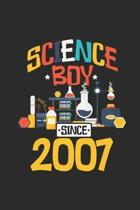 Science Boy Since 2007: Graph Ruled Notebook / Journal (6'' X 9'' - 5 X 5 Graph Ruled) - Science Student and Scientist Birthday Gift Idea
