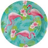 8x Flamingo bordjes 23 cm