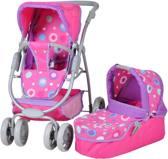 Knorrtoys Pink Splash Poppenkinderwagen