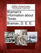 Braman's Information about Texas.