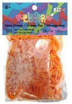 Rainbow Loom Elastiekjes - Neon Oranje - 600 Bandjes