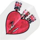 Harrows darts Flight 1622 hologram arrow heart
