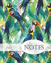 Notes, Parrot Notebook. Notebook, Lined Pages, Note Pad, Journal