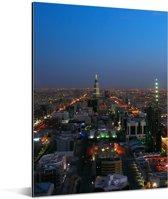 Schemering in Riyad Aluminium 120x160 cm - Foto print op Aluminium (metaal wanddecoratie) XXL / Groot formaat!