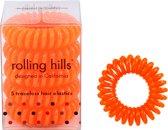 Rolling Hills 5 traceless hair elastics dark orange