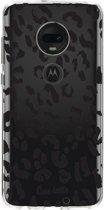 Casetastic Softcover Motorola Moto G7 / G7 Plus - Leopard Print Black