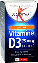 Lucovitaal Vitamine D3 75 microgram Voedingssupplement - 70 capsules