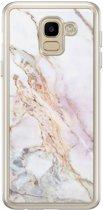Samsung Galaxy J6 2018 siliconen hoesje - Parelmoer marmer