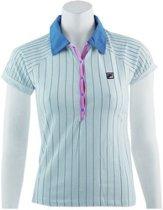 Fila Polo Jersey - Sportpolo -  Dames - Maat XS - White;Pink;L.Blue