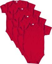Link Kidswear - Romper korte mouw - Maat 50/56 - Rood - 4 stuks