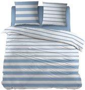 Snoozing Mandy - Dekbedovertrek - Lits-jumeaux - 270x200/220 cm + 2 kussenslopen 65x65 cm - Blue