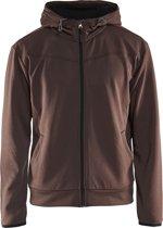 Blåkläder 3363-2526 Hoodie met rits Bruin/Zwart maat XL