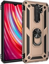 Teleplus Xiaomi Redmi Note 8 Pro Case Vega Ringed Tank Cover Gold + Nano Screen Protector hoesje