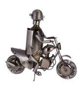 Motorrijder by Homania Metalen Flessenhouder
