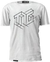 "TiesGames - T-Shirt ""Art"" - Wit - Large"