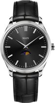 Maen Watches Brooklyn 39 Moonphase Jet Black horloge MN1531.2.0.1