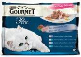 Gourmet Perle - Duo van Vis - Kattenvoer - 4 x 85 g
