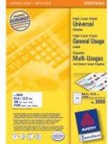Huismerk Avery 3658 Universele Etiket 64,6x33,8mm