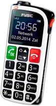Fysic FM-One - Senioren mobiele telefoon - Zwart, Zilver