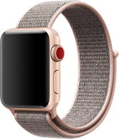 Apple watch band van By Qubix - 38mm / 40mm - Roze - Universeel - Sport loop bandje - Geschikt voor alle 38mm / 40mm apple watch series en Nike+ - Nylon bandje - Met klittenbandsluiting!