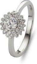 Silventi 943283657 54 Zilveren Ring - met ronde Zirkonia - Zilverkleurig