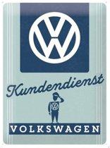 Wandbord - Volkswagen Kundendienst - 30x40 cm