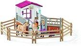 Schleich Paardenbox Arabische paarden 42369 - Paard Speelfigurenset - Horse Club - 40 x 45 x 17 cm