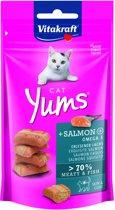 Vitakraft Cat Yums Zalm - Kattensnack - 40 g