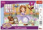 Framepuzzel  - Sofia het kleine Prinsesje, 15 stukjes Puzzel