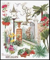 Thea Gouverneur Borduurpakket 423A Heligan Garden Engeland - Aida stof 100% katoen