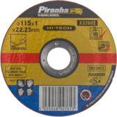 Piranha Doorslijpschijf t.b.v. roestvrij staal, 1.0 mm. x 115mm X32602