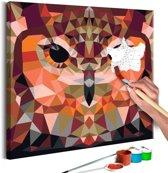 Doe-het-zelf op canvas schilderen - Uil 40x40