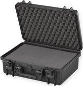 MAX430S Waterdichte koffer  zwart met plukfoam 42,6 x 29,0 x 15,9 cm