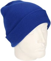 Basic winter muts kobalt blauw