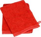 Washandje 100% Katoen - Rood - (Set 5 stuks)