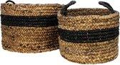 HSM Collection Mandenset Malibu - Waterhyacint - zwart/naturel - set van 2