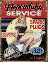 Signs-USA Dependable Service - Retro Wandbord - Metaal - 40x30 cm